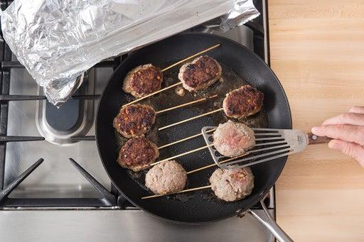 Cook the skewers: