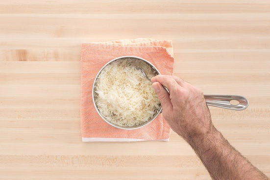 Make the garlic rice: