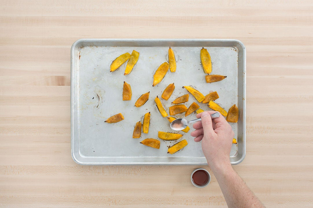 Roast & dress the squash: