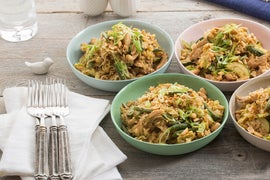 Chicken Fried Rice with Green Beans, Cabbage & Peanuts