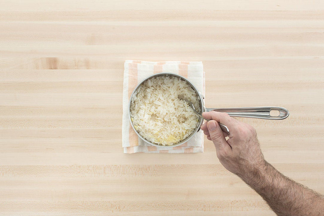 Make the ginger rice: