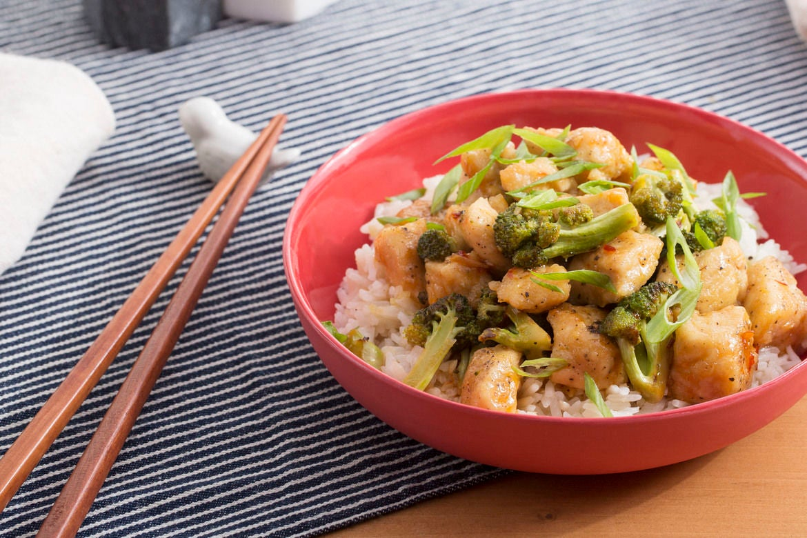 Spicy Hoisin Chicken & Broccoli with Garlic Rice