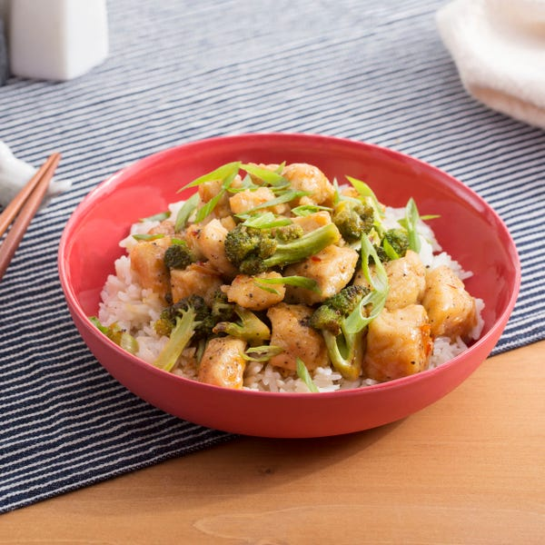 Spicy Hoisin Chicken & Broccoli with Garlic Rice