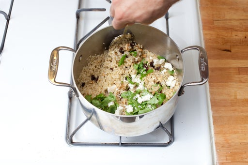 Cook the quinoa & make the filling: