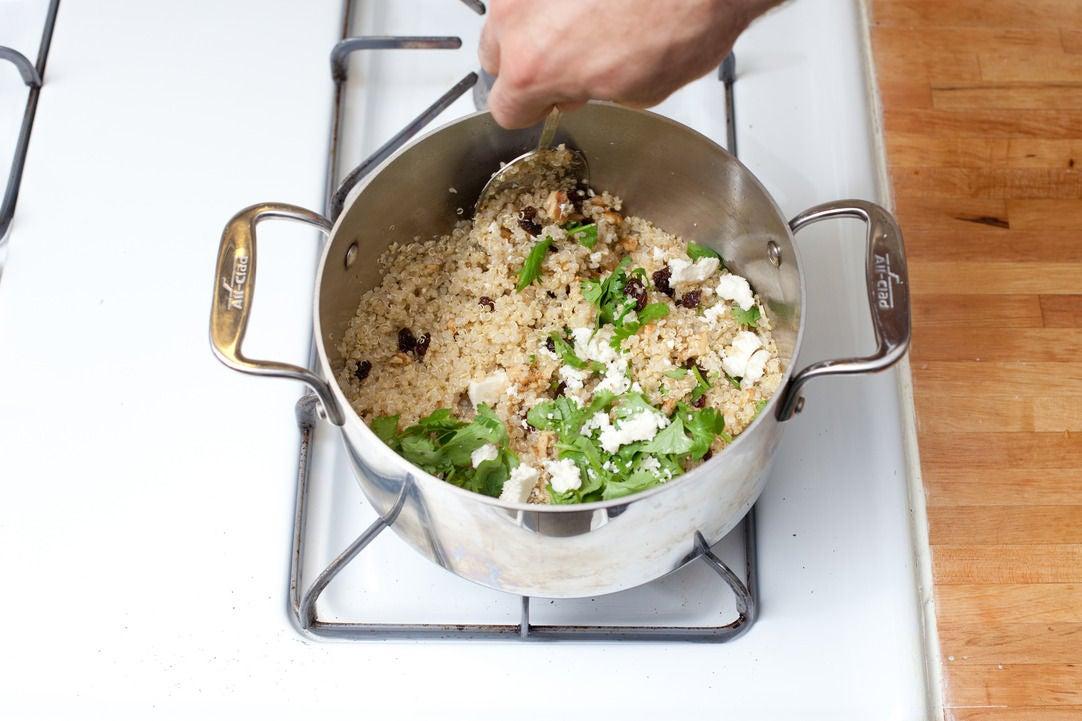 Cook the quinoa & make the filling: