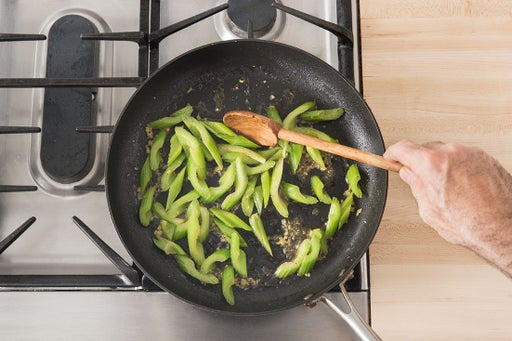 Cook the celery: