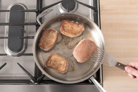 Cook the pork chops: