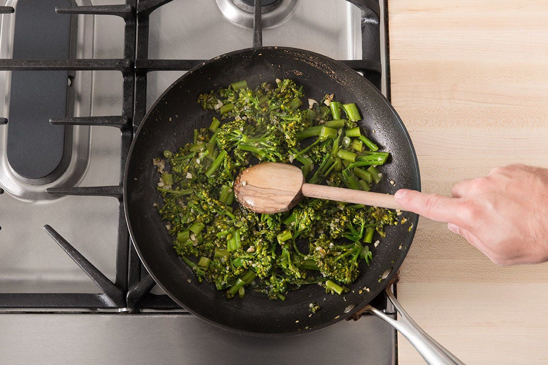 Cook the broccolini: