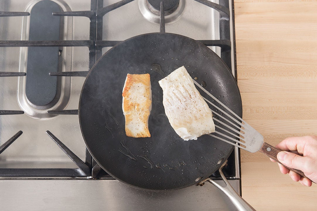 Cook the cod & plate your dish: