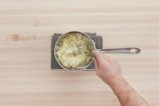 Cook & mash the potato: