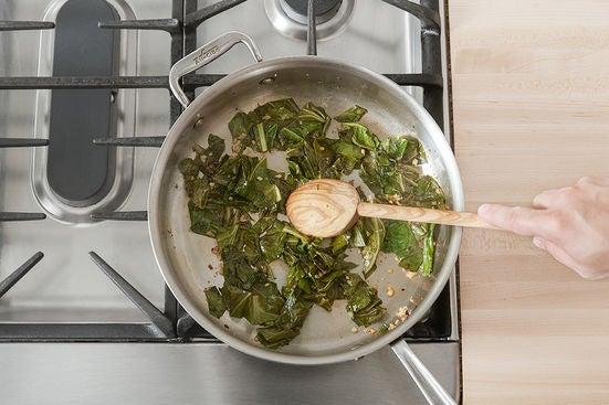 Start the collard greens:
