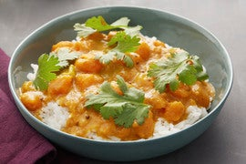 South Indian Squash Curry with Jasmine Rice