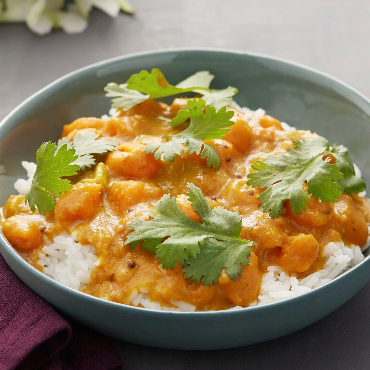 Recipe south indian squash curry with jasmine rice blue apron south indian squash curry with jasmine rice forumfinder