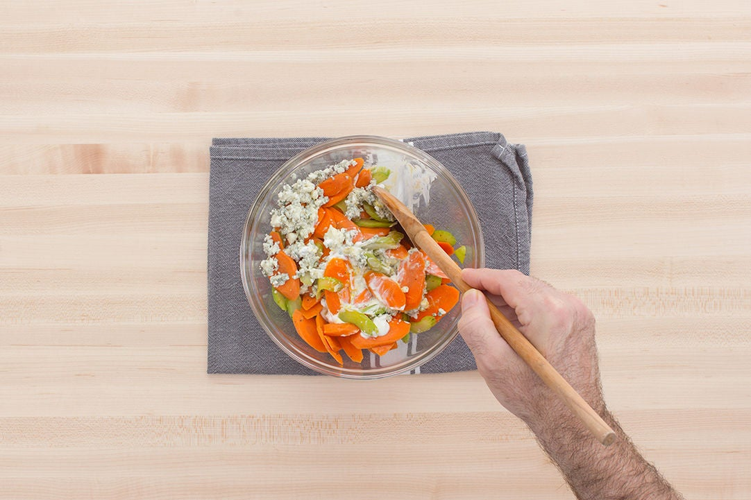 Make the vegetable topping: