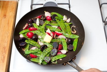 Sauté the vegetables: