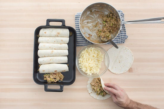 Assemble & bake the enchiladas: