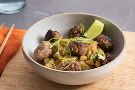 Vietnamese Meatballs with Sweet Potato Noodles & Daikon Radish