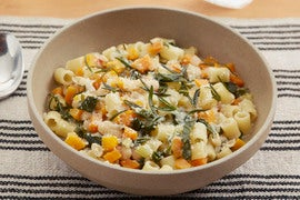 White Bean & Vegetable Minestrone with Fried Rosemary