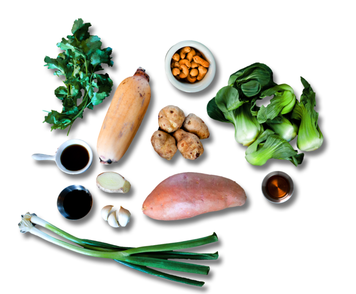 Maple & Sesame Root Vegetable Stir-Fry  ingredients