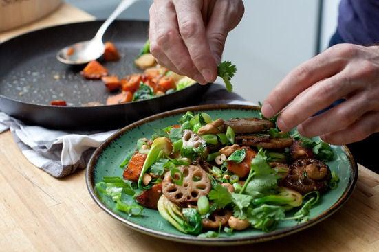 Recipe: Maple & Sesame Root Vegetable Stir-Fry - Blue Apron