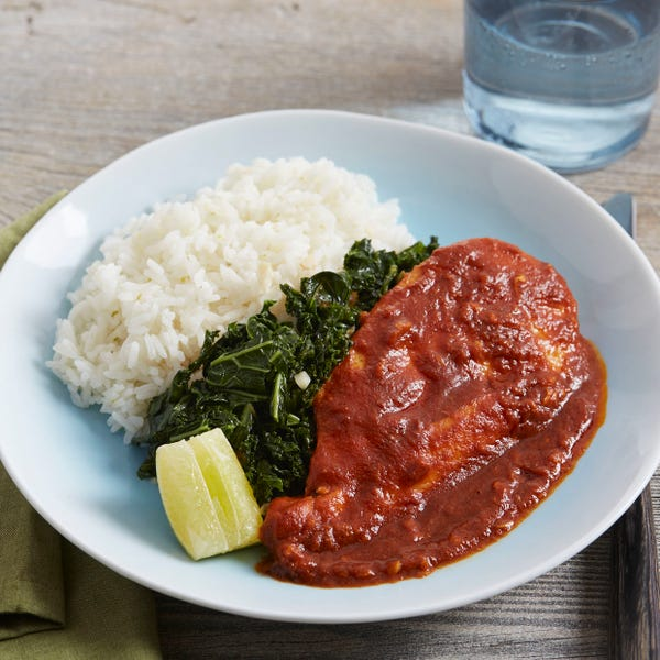 Masala-Spiced Chicken with Kale & Lime Rice