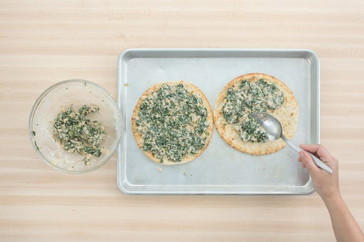 Assemble & bake the flatbreads: