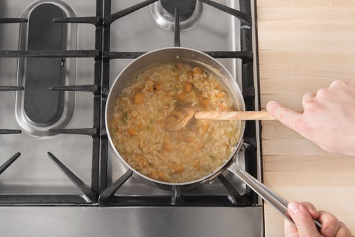 Finish the risotto & plate your dish: