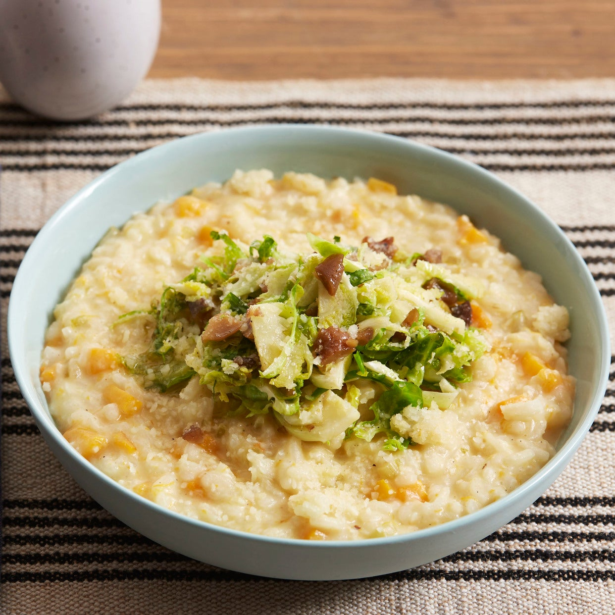 Butternut Squash Risotto with Brussels Sprouts & Chestnuts