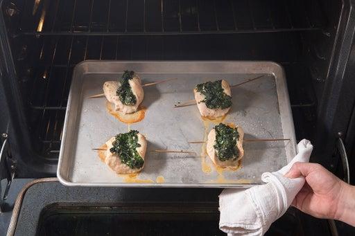 Bake the rollatini: