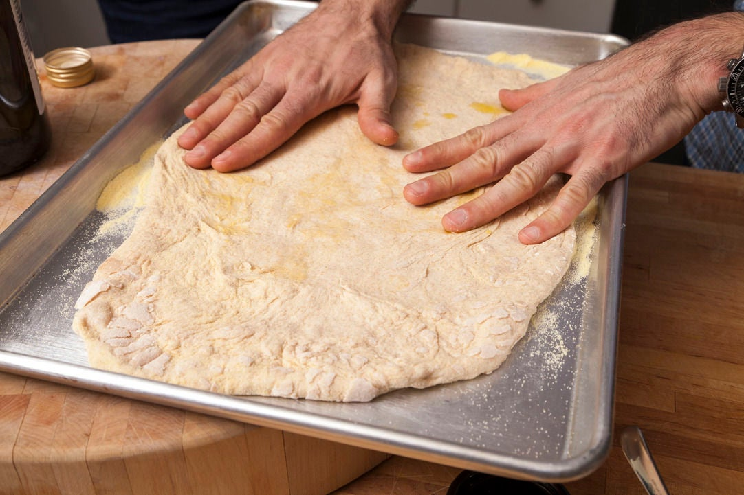 Stretch the dough: