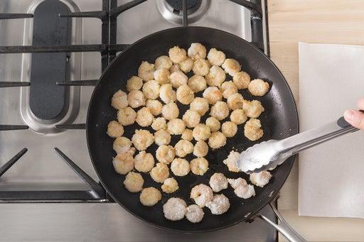 Cook the shrimp: