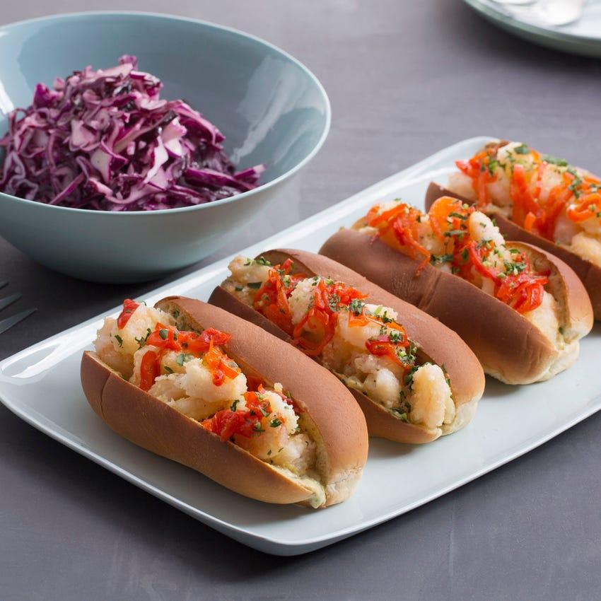 Crispy Shrimp Po' Boys with Cabbage Slaw & Rémoulade Sauce