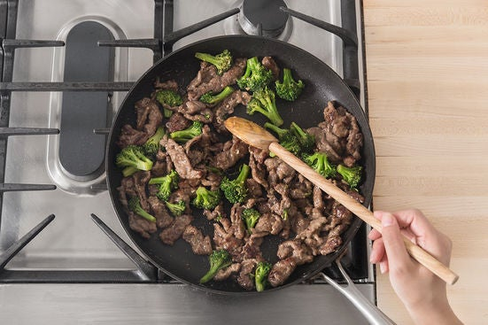 Finish the beef & serve your dish: