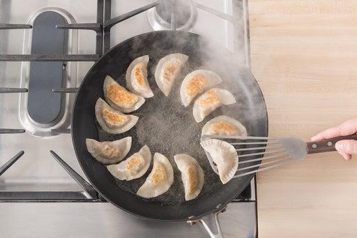 Cook the dumplings: