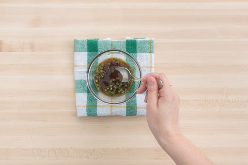 Make the dipping sauce & plate your dish: