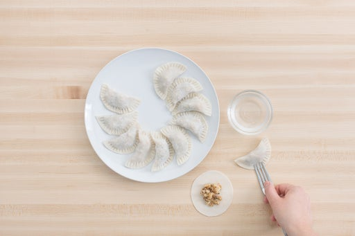 Assemble the dumplings: