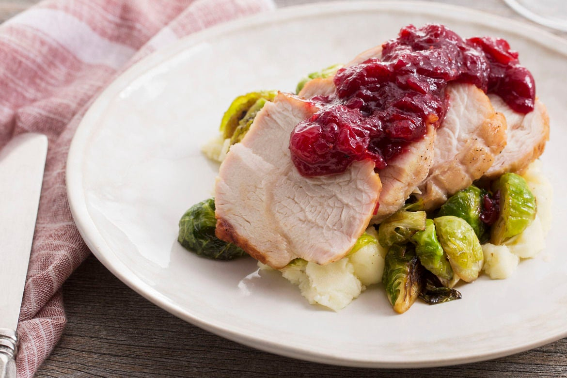 Roast Turkey & Cranberry Sauce with Brussels Sprouts & Mashed Potato