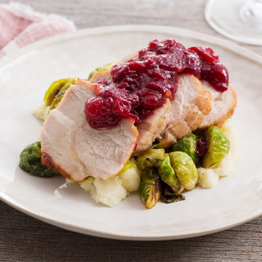 Recipe Roast Turkey Cranberry Sauce With Brussels Sprouts Mashed Potato Blue Apron