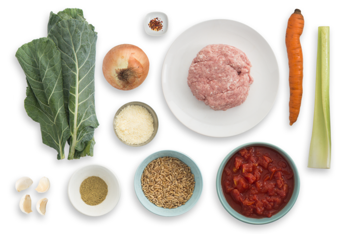 Italian Wedding Soup with Pork Meatballs ingredients
