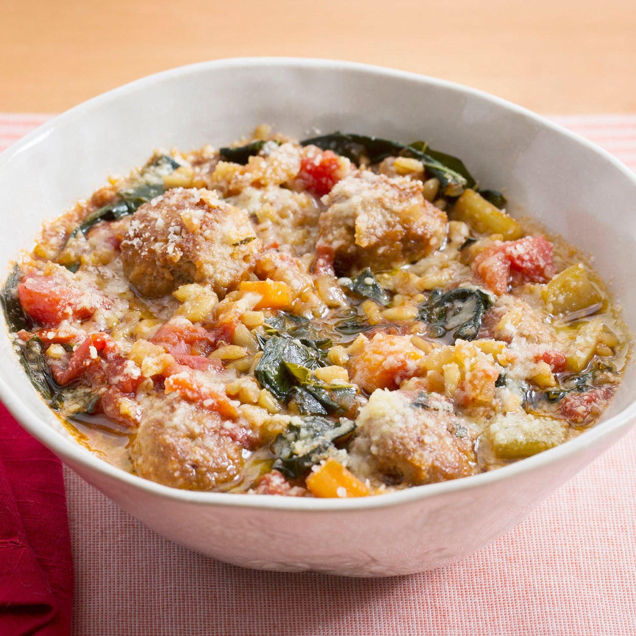 Italian Wedding Soup with Pork Meatballs