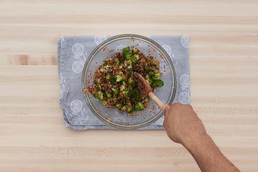 Finish the quinoa & plate your dish: