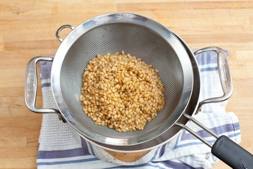 Cook the wheat berries: