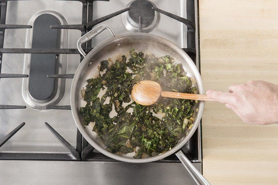 Cook the collard greens & serve your dish: