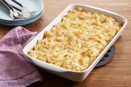 Baked Campanelle Pasta with Cauliflower & Fontina Cheese