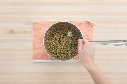 Finish the farro & plate your dish: