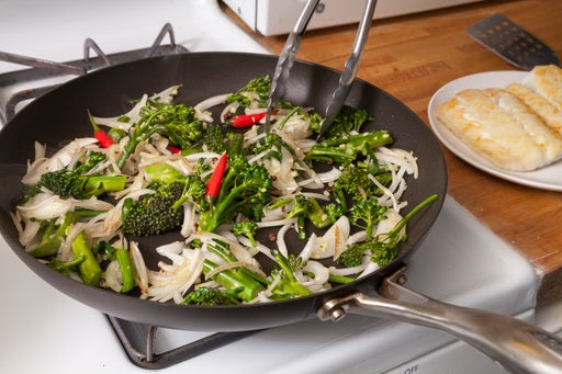 Cook the vegetables & prepare the sauce: