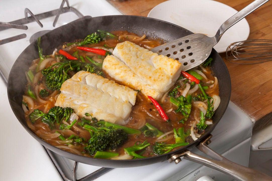 Finish the fish & sauce: