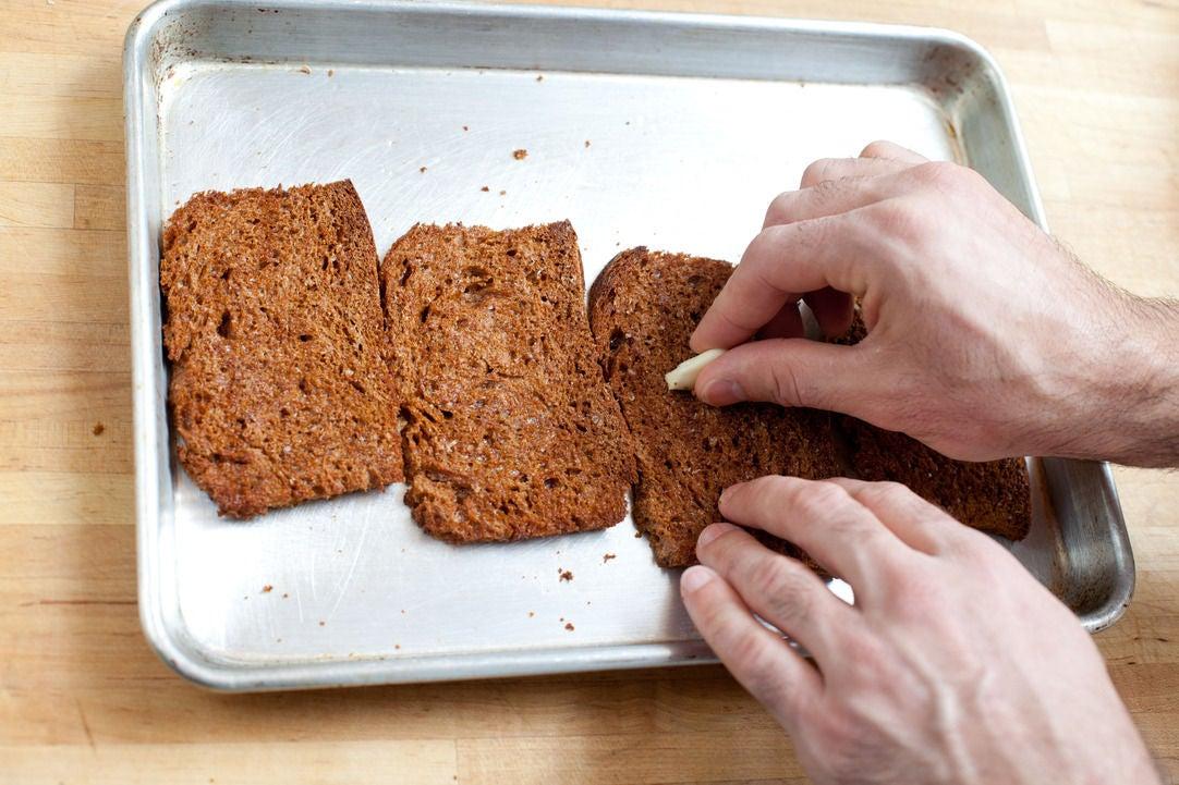 Toast the bread: