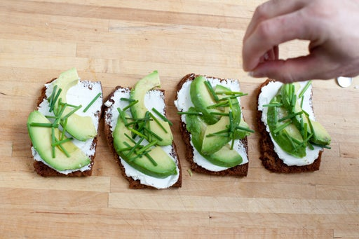 Make the tartines, dress the salad, & enjoy: