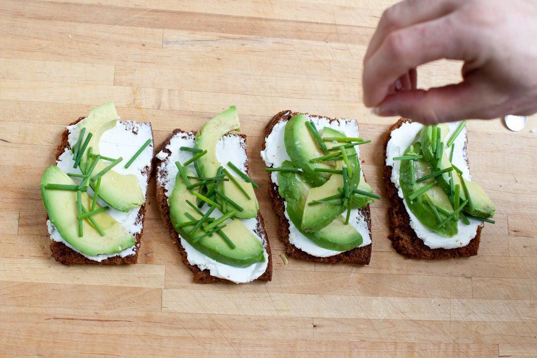 Make the tartines, dress the salad, & enjoy:
